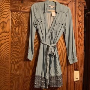 Diana Vonfurstenberg Denim Wrap Dress